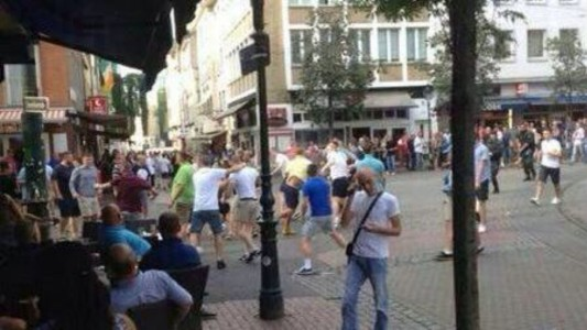 Newcastle-United-West-Ham-Fans-Fighting-Germany-NUFC